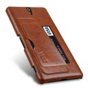 Genuine Leather Back Cover VETTI Sony Xperia C5 vintage brown